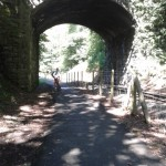 Lon Eifion Cycle Trail, following Welsh Highland Railway from Caernarfon to Bryncir
