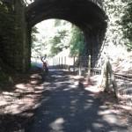 Lon Eifion Cycle Trail, following Welsh Highland Railway from Caernarfon to Bryncir