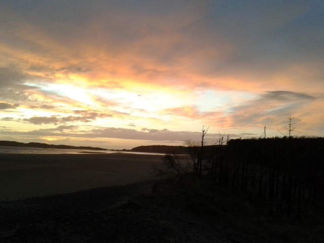 Sunset at Llanddwyn, Newborough